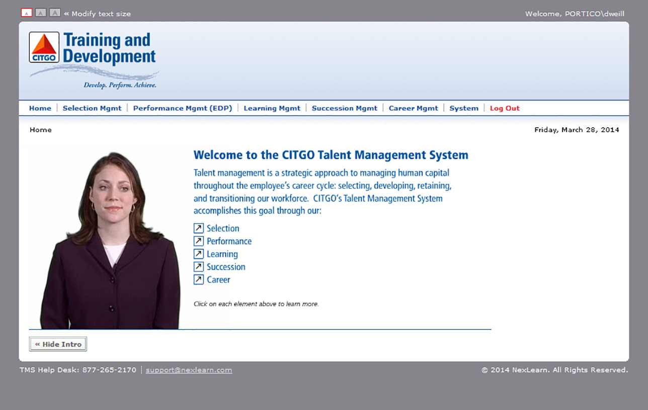 Citgo Talent Management System (TMS) Image 01