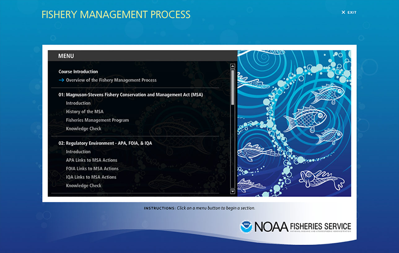 NOAA Fishery Management Process (e-Learning) Image 01