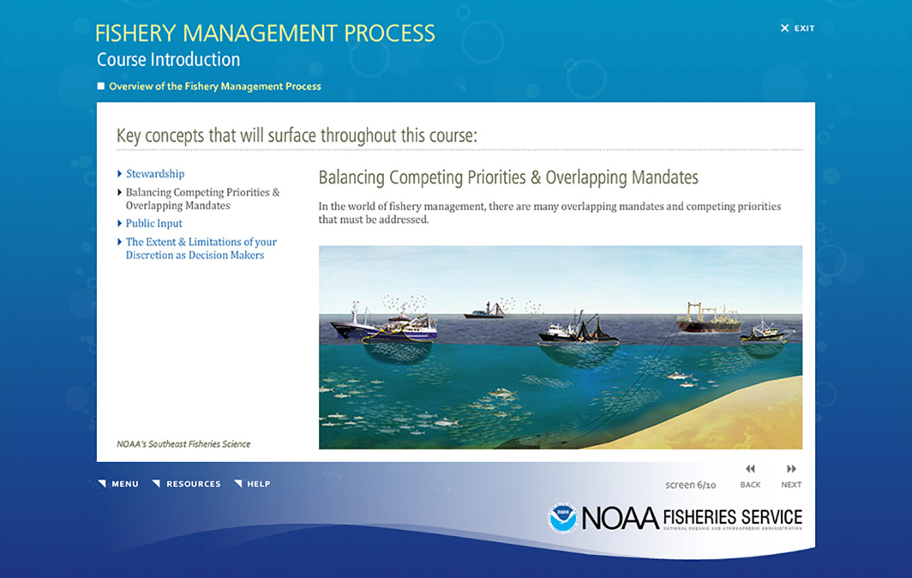 NOAA Fishery Management Process (e-Learning) Image 03