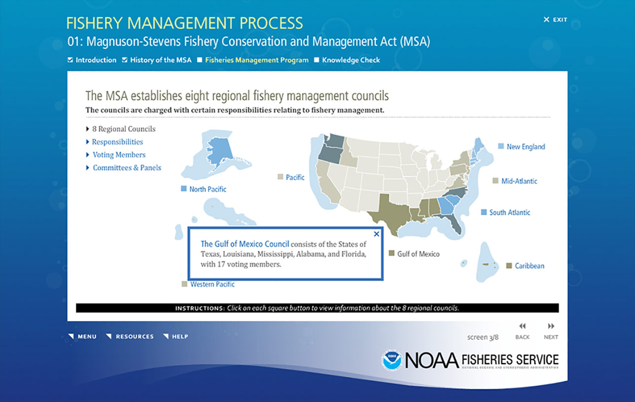 NOAA Fishery Management Process (e-Learning) Image 04