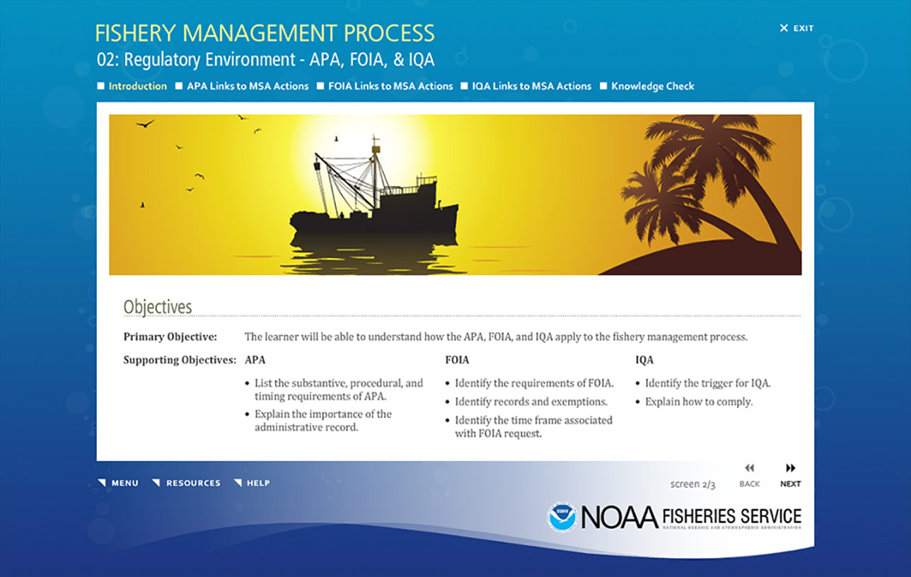 NOAA Fishery Management Process (e-Learning) Image 05
