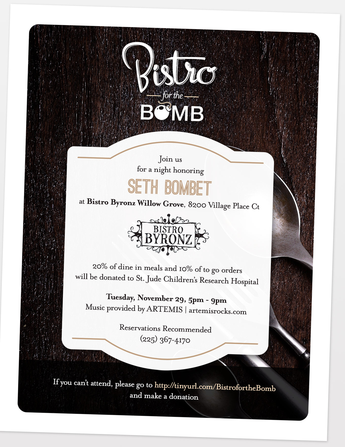 Bistro for the Bomb Flyer