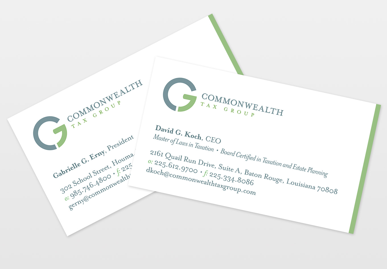Commonwealth Tax Group Business Cards