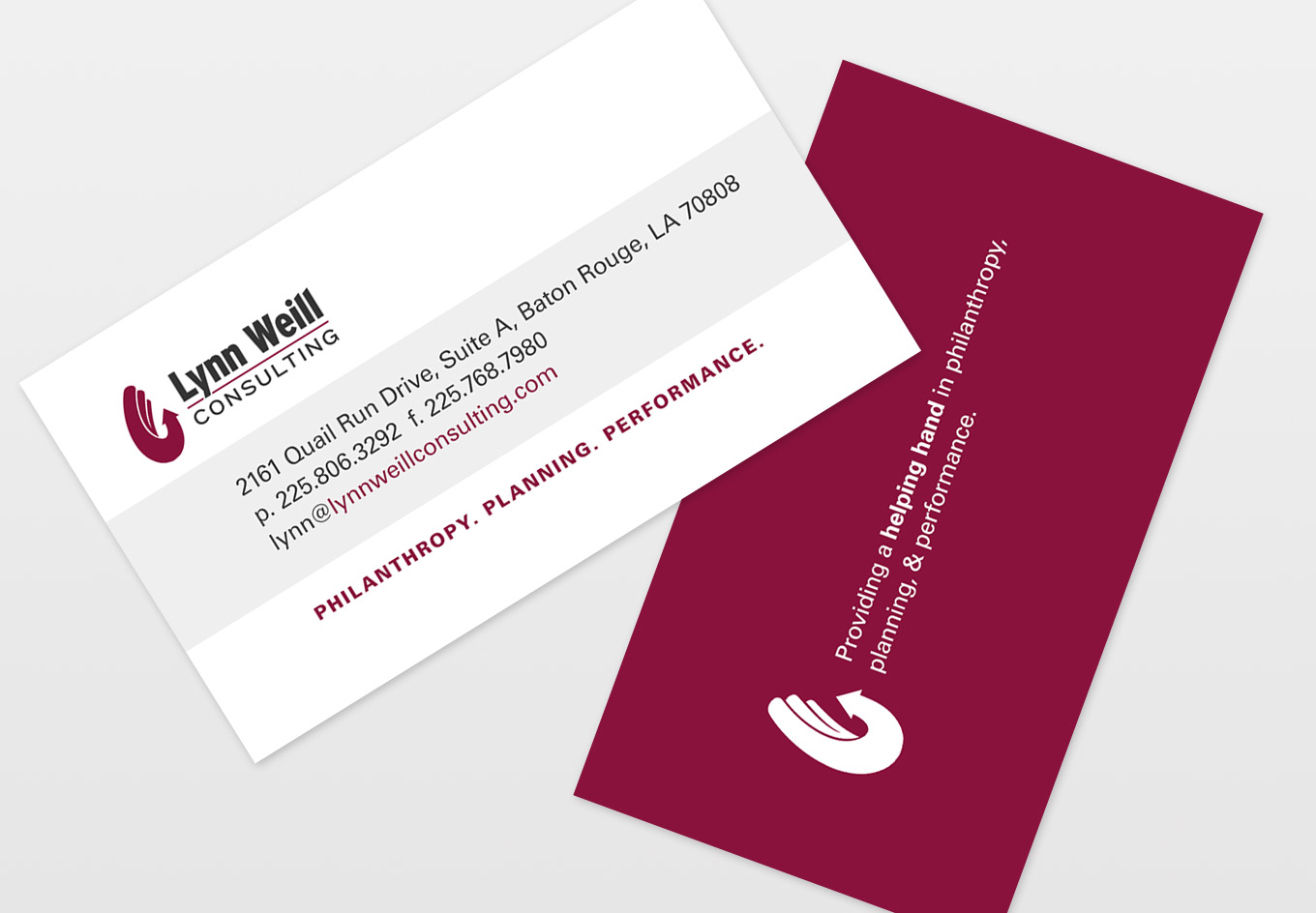 Lynn Weill Consulting Business Cards