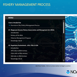 NOAA Fishery Management Process e-Learning Thumbnail